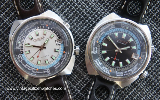 vintage citizen automatic worldtimer gmt dual time