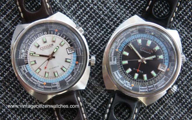 vintage citizen automatic worldtimer gmt dual time