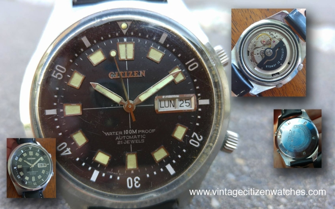 compressor diver vintage citizen