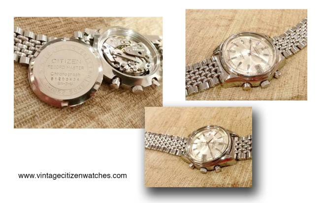 white dial citizen recordmaster vintage