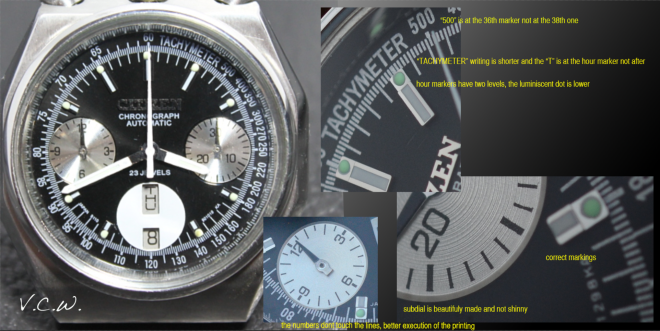 Citizen Bullhead fake aftermarket dial