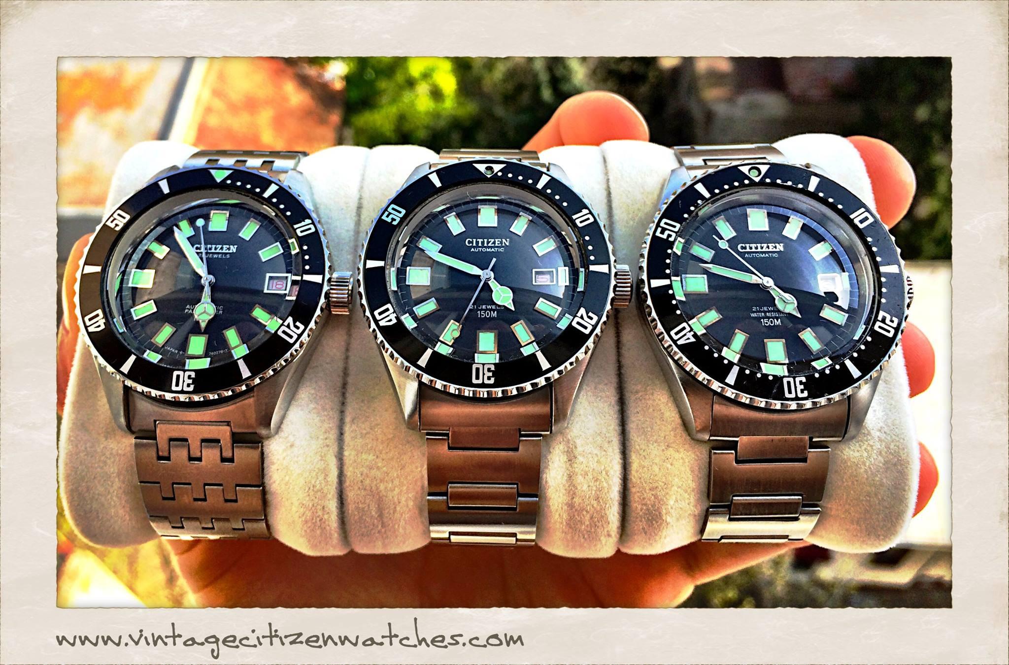 009a3ca0ae0 Vintage Citizen Divers 150m  68-5372