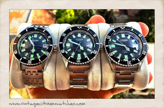 vintage citizen divers 150m 4-740131Y , 4-600851Y , 4-820789Y