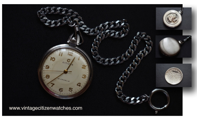 citizen pocket watch center second