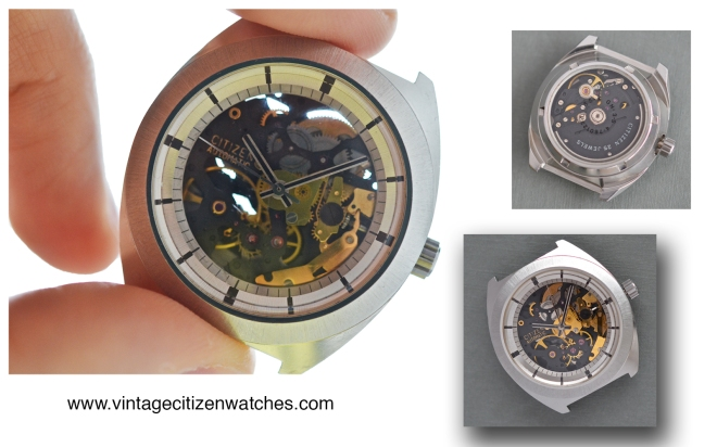citizen skeleton vintage automatic steel