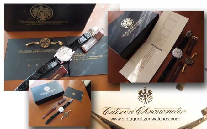 citizen chronometer box and papers