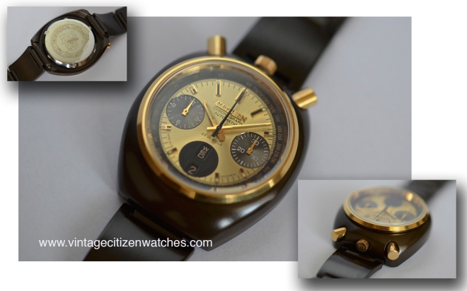 citizen vintage chronograph bull head challange timer
