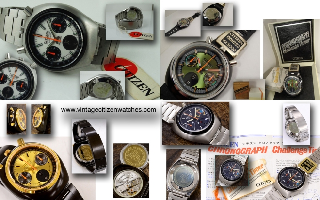 vintage citizen chronograph challenge timer automatic 8110A