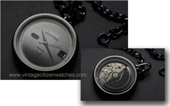 citizen seven star deluze seven pocket watch