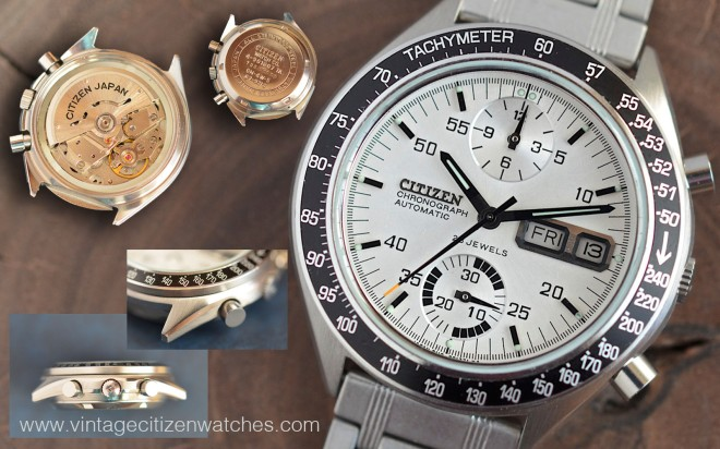 citizen vintage automatic chronograph speedy 67-9313