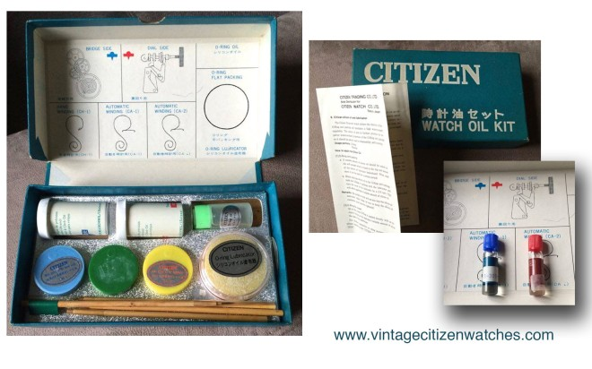 vintage citizen oil kit service