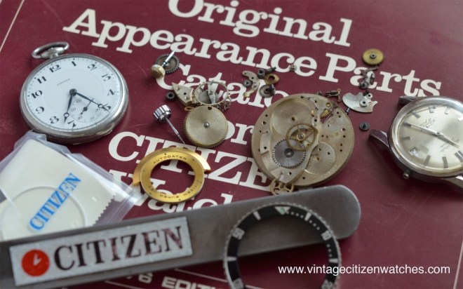 citizen parts crystal bezel crown for repair and restoration