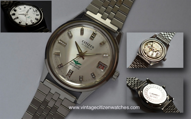 vintage citizen parashock parawater green eagle